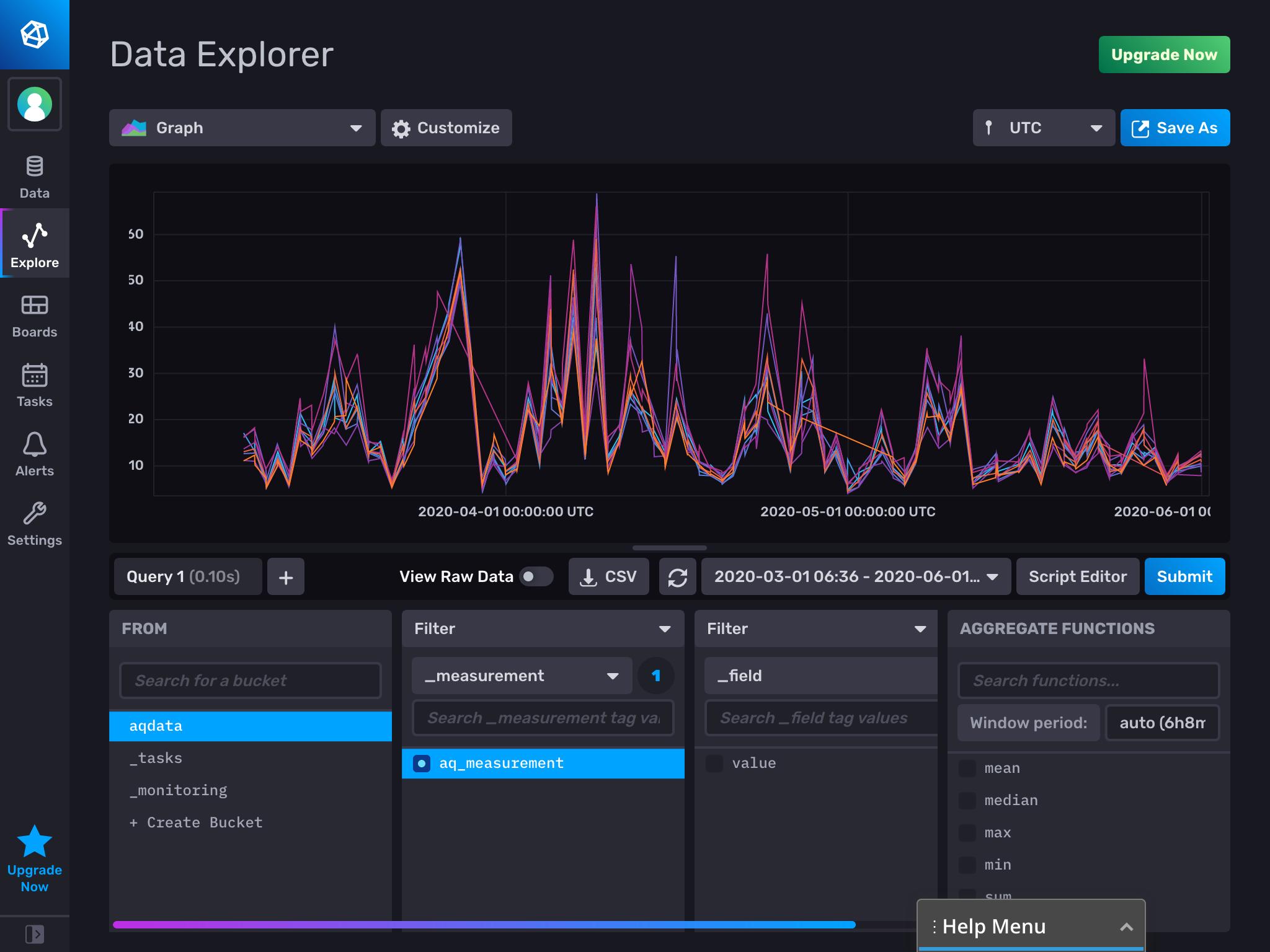 Data Explorer with visualization